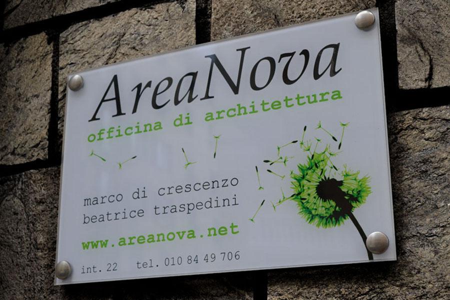 AreaNova – nuovo studio targa AreaNova – AreaNova