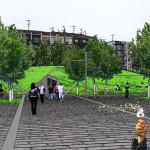 vista dalla piazza