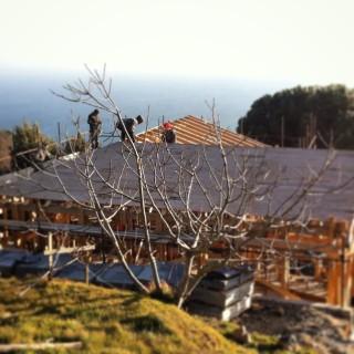 Casa di paglia a Genova - foto della fase realizzativa